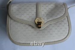 GUCCI Sac à main toile monogramme et cuir Vintage (50783)