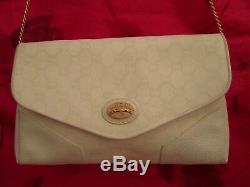 GUCCI authentique sac à main vintage en cuir bag