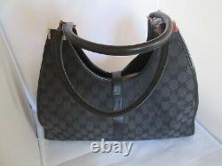 GUCCI cuir et toile authentique sac à main vintage bag /