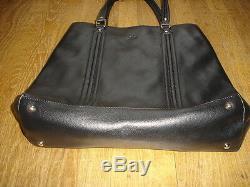 GUCCI grand sac cabas cuir noir porte a main ou épaule made Italy valeur 3200 E
