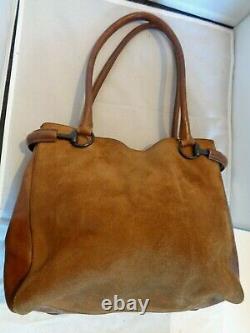 GUCCI sac à main cuir et daim authentique vintage bag /