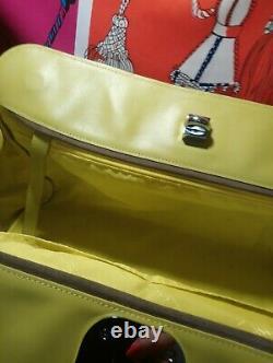 Grand Sac A Main Longchamp en cuir façon croco Jaune Vif Sublime
