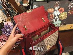 Gucci Queen Margaret GG Petit Sac À Poignée Haut ROUGE 476541