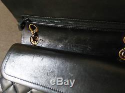 Handbag Sac Chanel Timeless 2.55 en Veau Noir 23cm No Reserve
