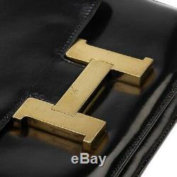 Hermès Constance 23 en cuir box noir en bon état général i