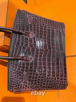 Hermès Crocodile Croco Birkin 35 Sac pour Femmes Sac à Main comme Neuf