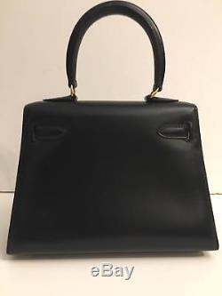 Hermes Rare! Sac Kelly Mini Sellier Box Noir Kelly 20 Mini Bag Ghw Tres Bon Etat