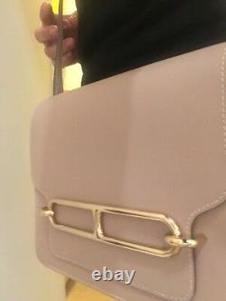 Hermès bag, sac à main Roulis, cuir grainé, couleur Nude, beige taupe, parfait