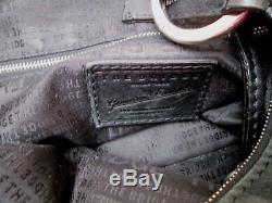 Joli sac à main The Bridge style seau en cuir noir vintage bag /