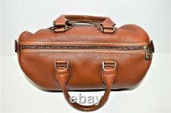 LONGCHAMP, Sac à main légende boston, rare version, en cuir marron