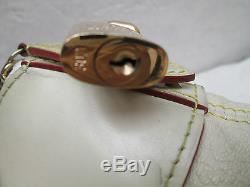 LOUIS VUITTON Sac à main en cuir Authentique BEG vintage