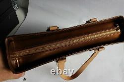 LOUIS VUITTON sac a main Colombus cuir monogram vernis bronze M91134 (34698)