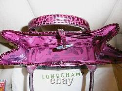 Longchamp Chic Sac Neuf Sac A Main Roseau Facon Crocodile Bordeaux