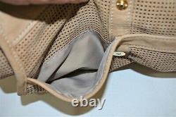 Longchamp, Sac à main BALZANE, en cuir naturel perforé