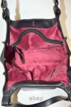 Longchamp, Sac à main BALZANE gm, en nubuck et cuir noir