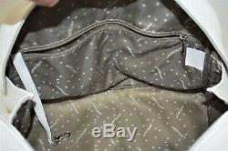 Longchamp, Sac à main COSMOS GM, en cuir grainé blanc
