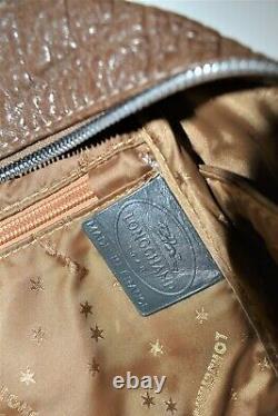 Longchamp, Sac à main COSMOS GM, en cuir marron et gris