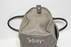 Longchamp, Sac à main boston BALZANE Roots, en cuir gris