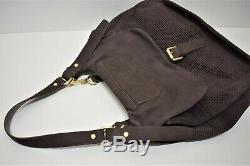 Longchamp, Sac à main et bandoulière BALZANE, en nubuck et cuir marron foncé