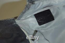 Longchamp, Sac cabas Gatsby, en cuir façon python gris foncé