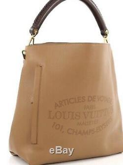 Louis Vuitton Bagatelle Bandoulière Sac Fourre-Tout Cuir Soie Noisette Rare