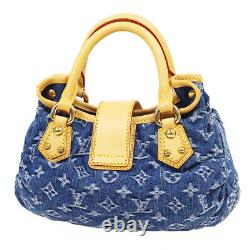Louis Vuitton Pleaty Sac à Main VI0065 Main Indigo Monogram Denim M95020 33382
