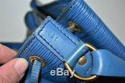 Louis Vuitton, Sac NOE GM en cuir épi bleu