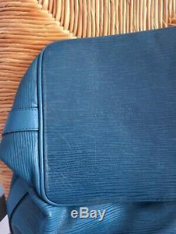 Louis Vuitton Sac à main Saut, Vintage Noé Bleu Bon État