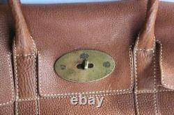 MULBERRY Sac à main Bayswater cuir marron (48990)