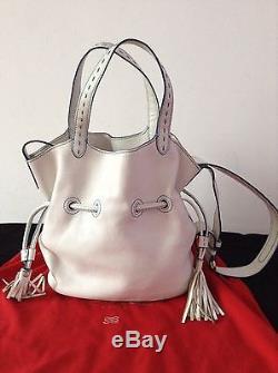 Magnifique sac Lancel Easy Flirt blanc. TBE