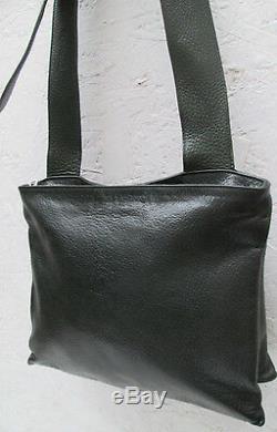 -Magnifique sac à main bandoulière IL BISONTE cuir TBEG bag vintage