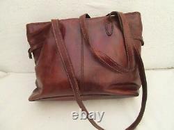 Magnifique sac à main style cabas A4 THE BRIDGE en cuir vintage bag /