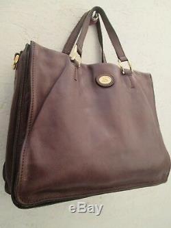 Magnifique sac à main style cabas THE BRIDGE en cuir vintage bag /