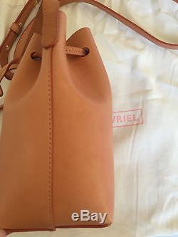 Mansur Gavriel mini mini bucket bag, camello rosa