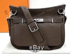 NEUF SAC A MAIN HERMES JYPSIERE PM BESACE CUIR TOGO CHOCOLAT BANDOULIERE 5600