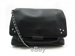 Neuf Sac A Main Jerome Dreyfus Lulu M Bandouliere Cuir Noir Leather Handbag 590