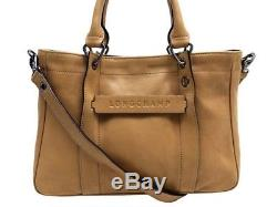 pelle 3d Borsa Longchamp beige New tracolla a in Handbag 06EwwqT4
