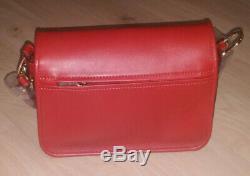 Neuf Sac A Main Longchamp Mademoiselle L2038883209 Bandouliere En Cuir Rouge
