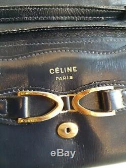 POCHETTE CÉLINE vintage en cuir! POCHETTE DE SOIRÉE CÉLINE! CÉLINE EVENING BAG