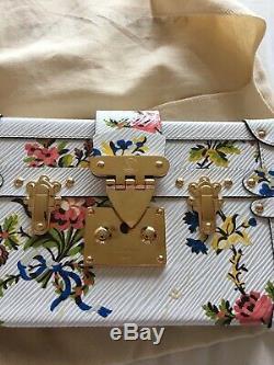Petite malle romantic blossom cuir épi blanc LOUIS VUITTON