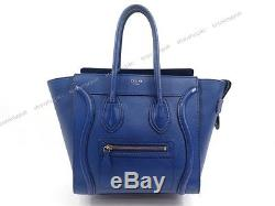 SAC A MAIN CELINE PHANTOM MICRO LUGGAGE BAG CABAS EN CUIR BLEU HAND BAG 2250