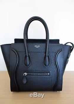 De Neuf Celine Etat Micro Noir Luggage Cuir A En Graine Sac Main TcKuJ3lF1