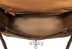 Sac Hermes Kelly Togo Gold 32cm Handbag Camel Leather Palladium Hardware Bag