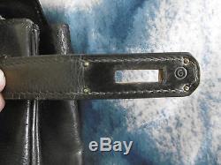 SAC HERMES KELLY authentique cuir noir vintage (1977) BON ETAT