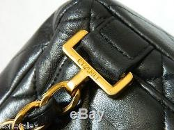 SAC à dos ou épaule Vintage CHANEL backpack timeless jumbo CUIR matelassé noir