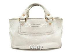 Sac A Main Celine Boogie 32 CM Cabas En Cuir Blanc Leather Hand Bag Purse 950