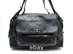 Sac A Main Chanel Voyage Fermoir 2.55 Cuir Caviar Matelasse Travel Bag 5250