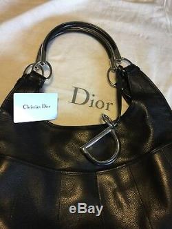 Sac A Main En Cuir Noir Christian Dior