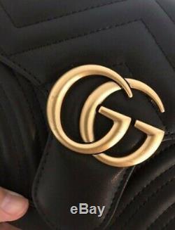 Sac A Main Gucci Marmont En Cuir Noir Neuf