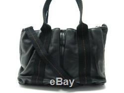 Sac A Main Hermes Caravane Pm Bandouliere Cuir Noir Black Leather Handbag 2800